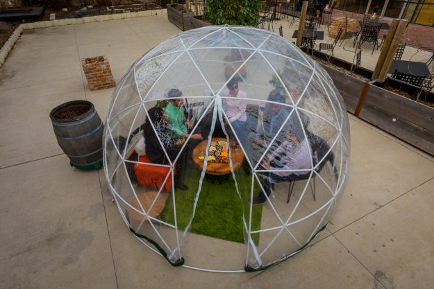 A river dome at the City Winery, Chicago.