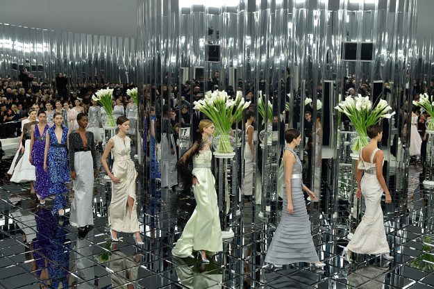 The Chanel Spring/Summer 2017 fashion show during Paris Haute Couture Fashion Week. Image: Catwalking/Getty Images