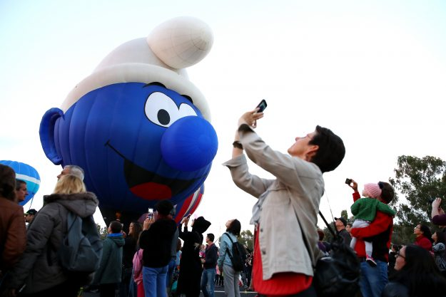 The Smurf balloon from Belgium is taking part in this year's festivities.