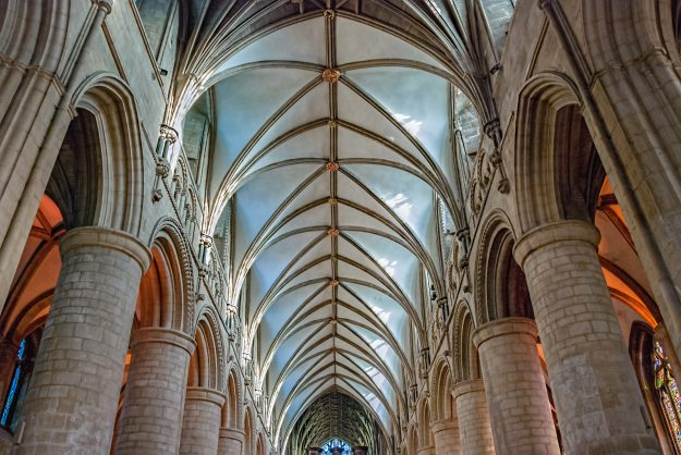 Gloucester Cathedral has one of the most beautiful architectural forms.