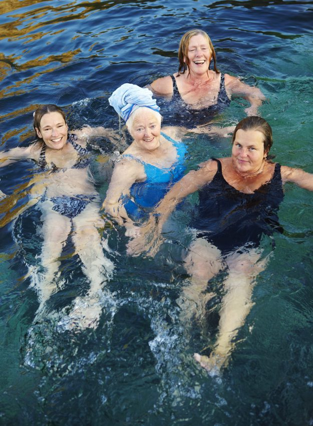Statistically, these women swimming in icy water in Norway are among the happiest people on earth.