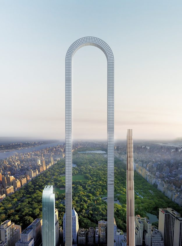 This incredible U-shaped skyscraper could dominate the NYC skyline. Image: Oiio Studios