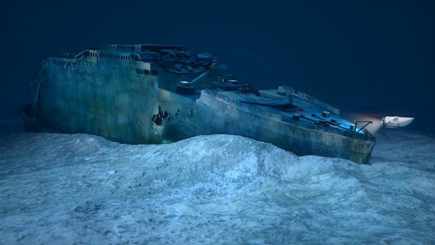 A new tour will offer travellers the opportunity to tour the wreck of the Titanic. Image: Blue Marble Private