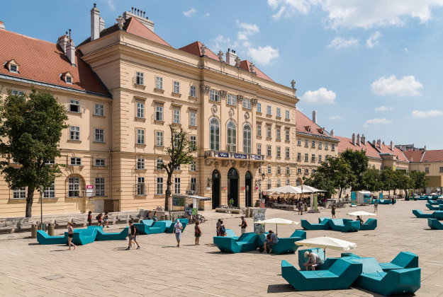 The Museumsquartier is a large area in Vienna and is the eighth largest cultural area in the world.