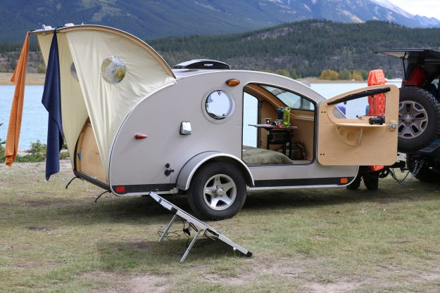 The Vistabule Camper Has A Huge Window That Allows For