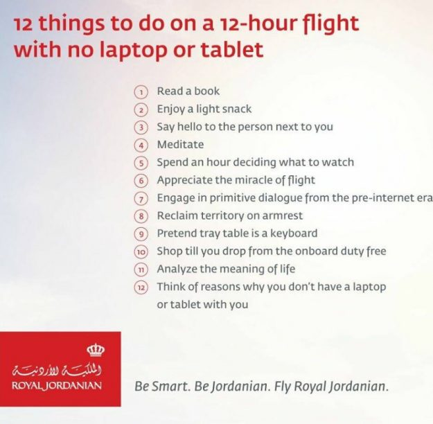The list was tweeted by the airline.