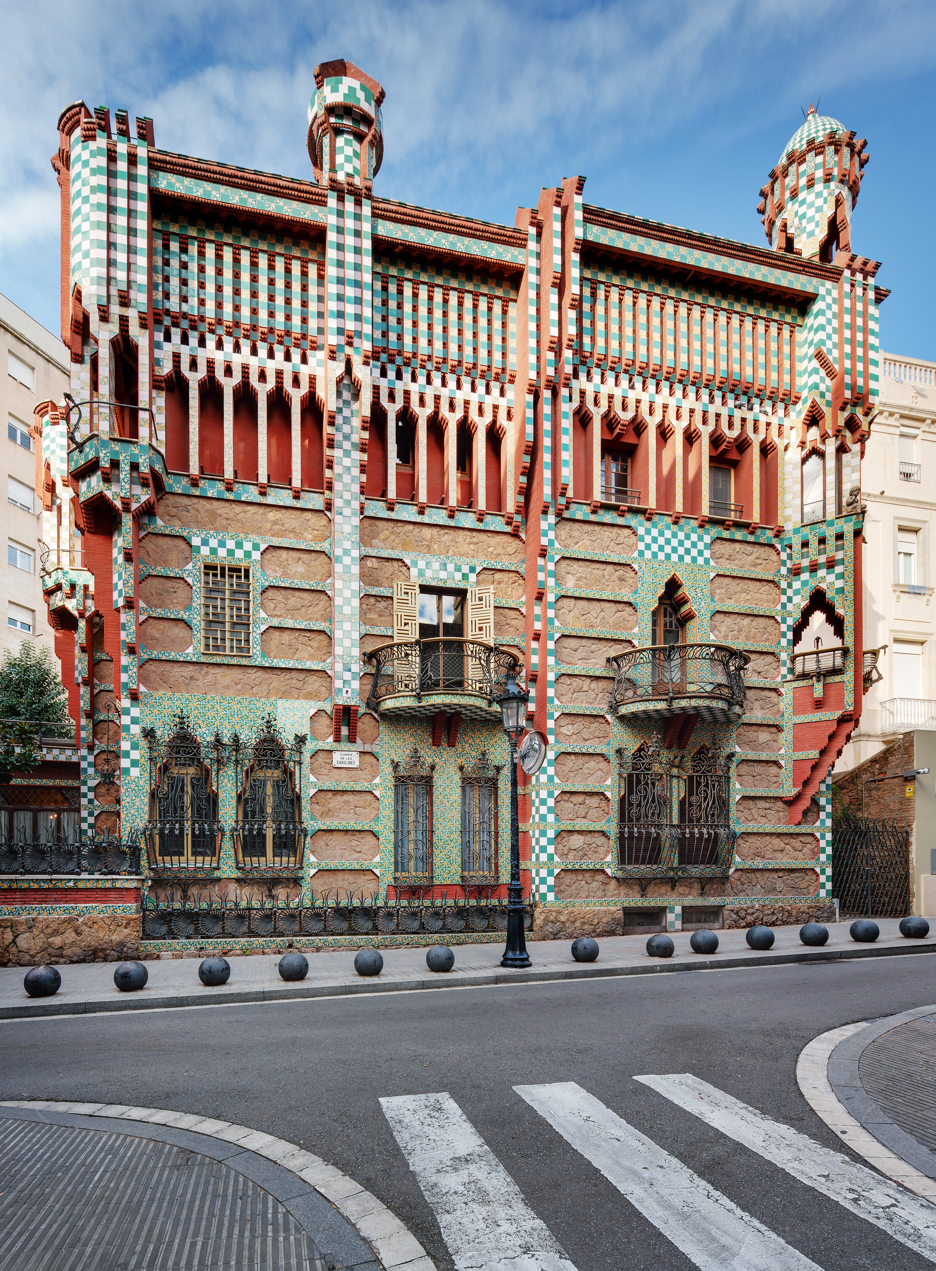The exterior of Casa Vicens. Image by Pol Viladoms