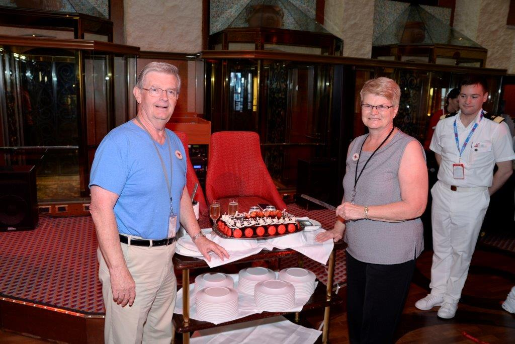 Bernard and Janice Caffary are the first guests to ever sail on 200 cruises with Carnival Cruise Line. Image: Carnival