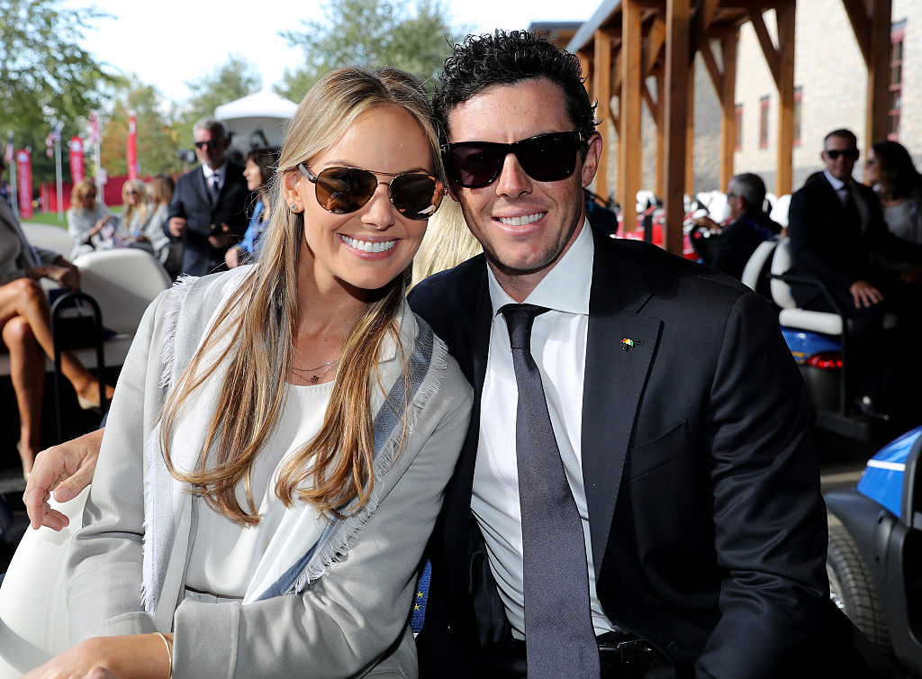 Rory McIlroy and Erica Stoll during the 2016 Ryder Cup opening ceremony in Minnesota. Image: David Cannon