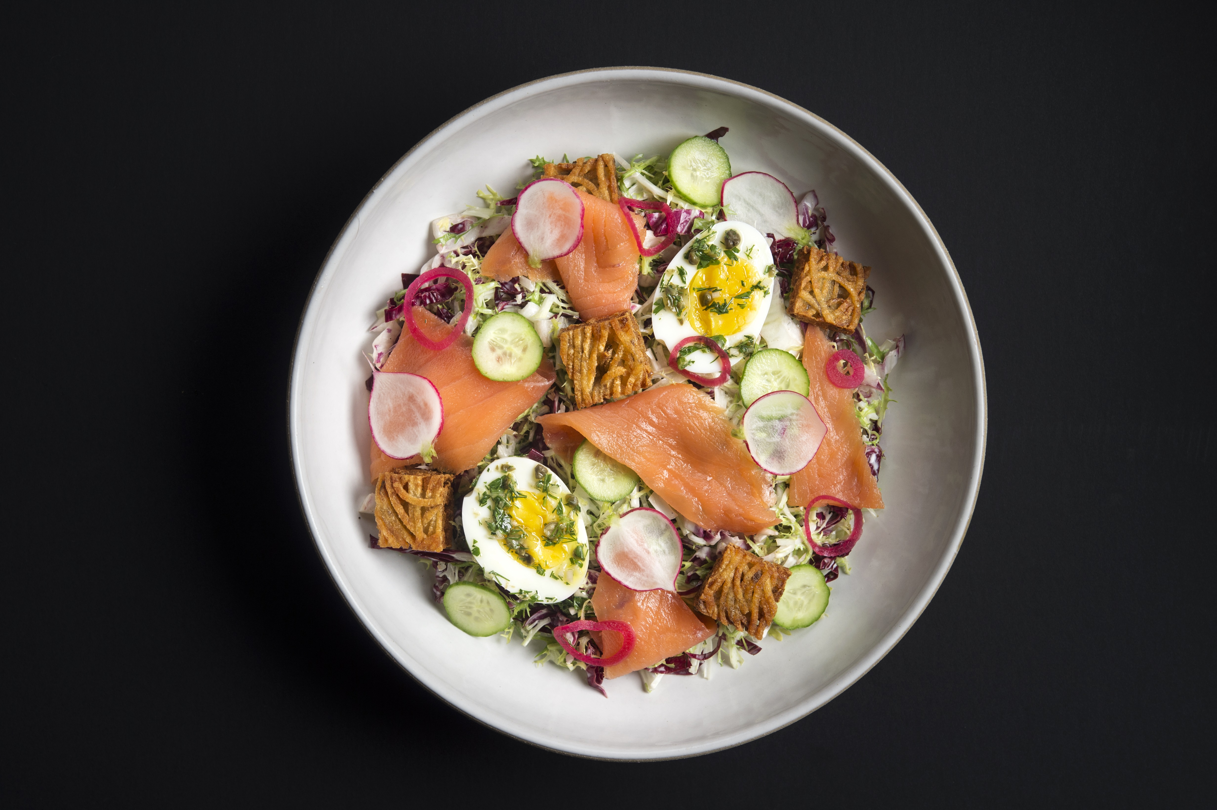 """Salmon rosti is on offer at a new casual restaurant from the chef at the """"world's best restaurant""""."""