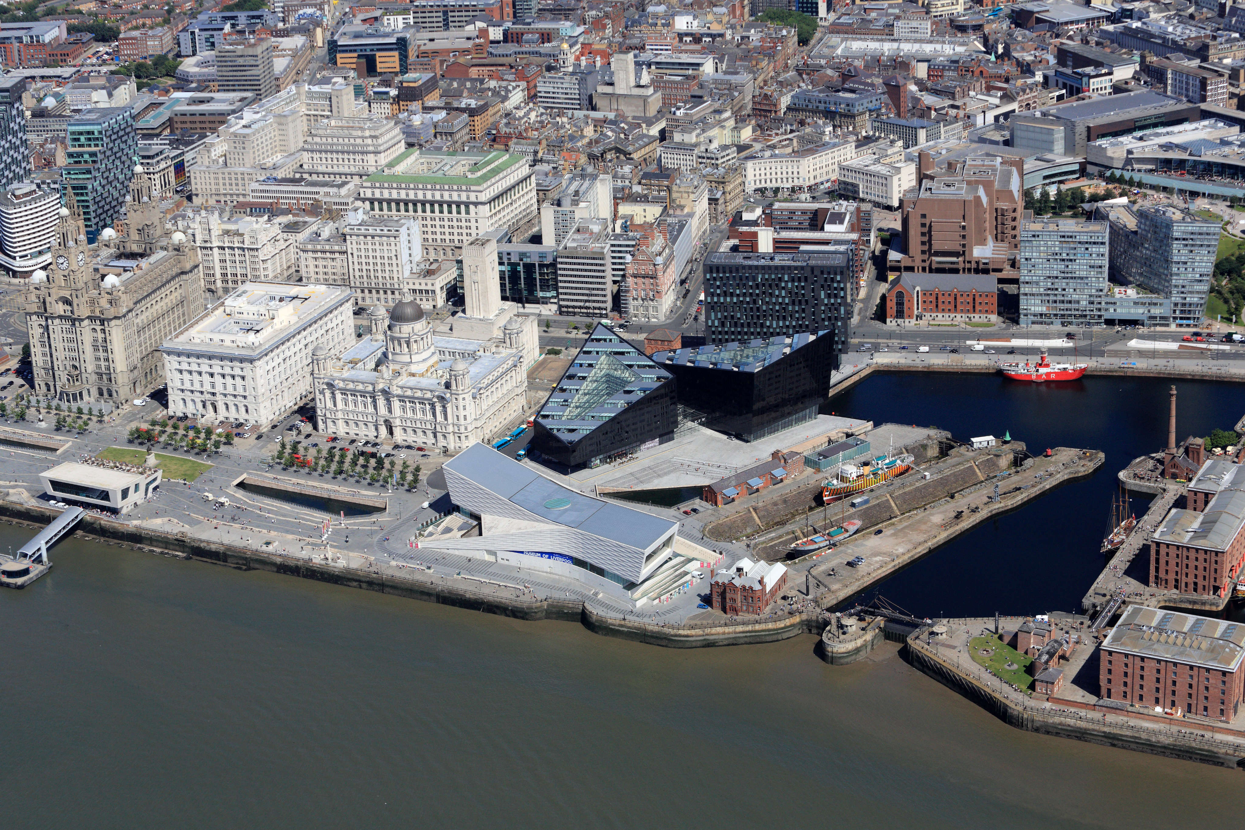 Liverpool's iconic waterfront.