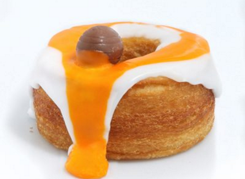 Creme egg cronuts or crodough has been created for Easter. Image: Rinkoff Bakery