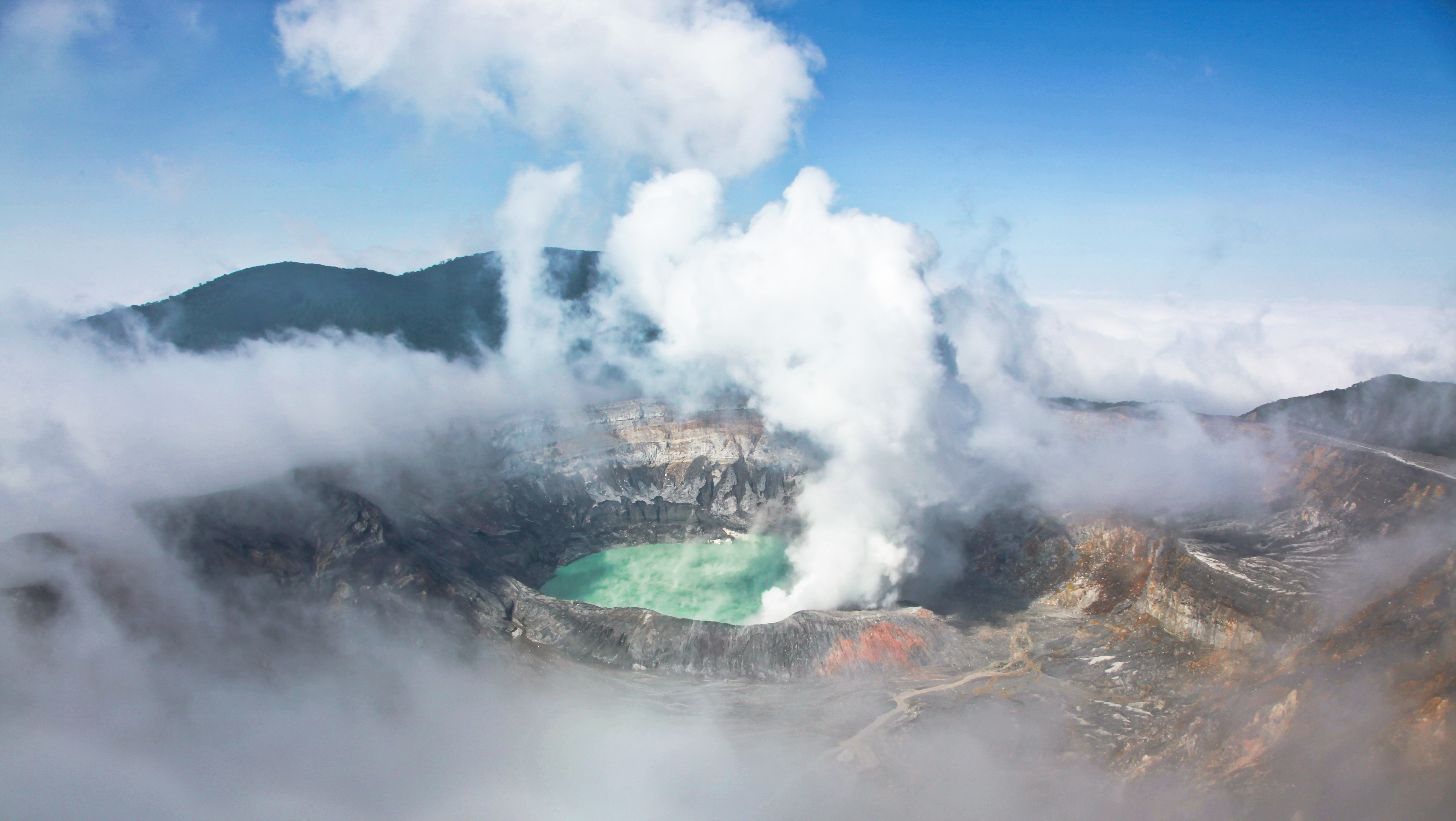 Volcanic activity closes natioanl park in Costa Rica. Image by Shutterstock RF