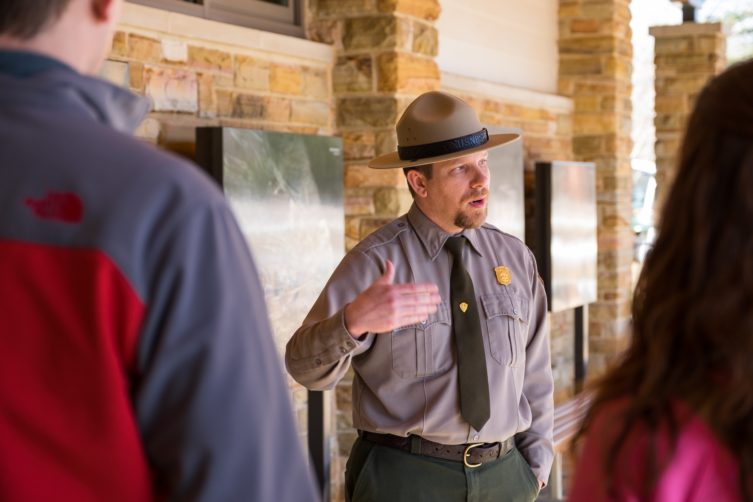 Ranger Jackie at Mammoth Cave National Park in Kentucky walks visitors through the discovery of the largest mapped cave system on Earth.
