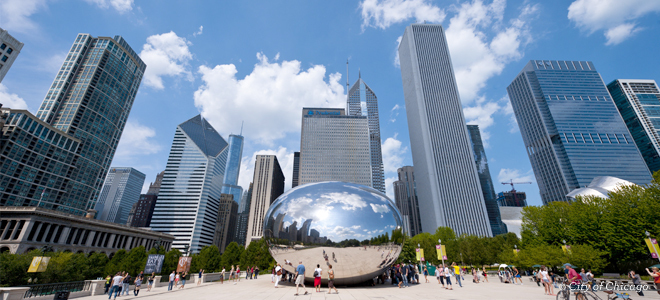 Millennium Park is now the top tourist attraction in Chicago and the Great Lakes. Image Choose Chicago