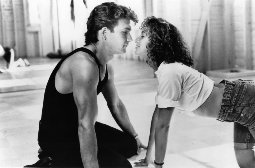 Patrick Swayze and Jennifer Grey in a scene from 'Dirty Dancing', 1987.
