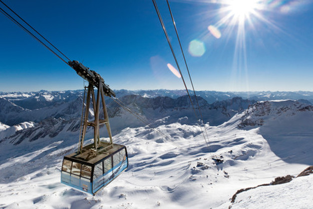 The cable car on Zugspitze.