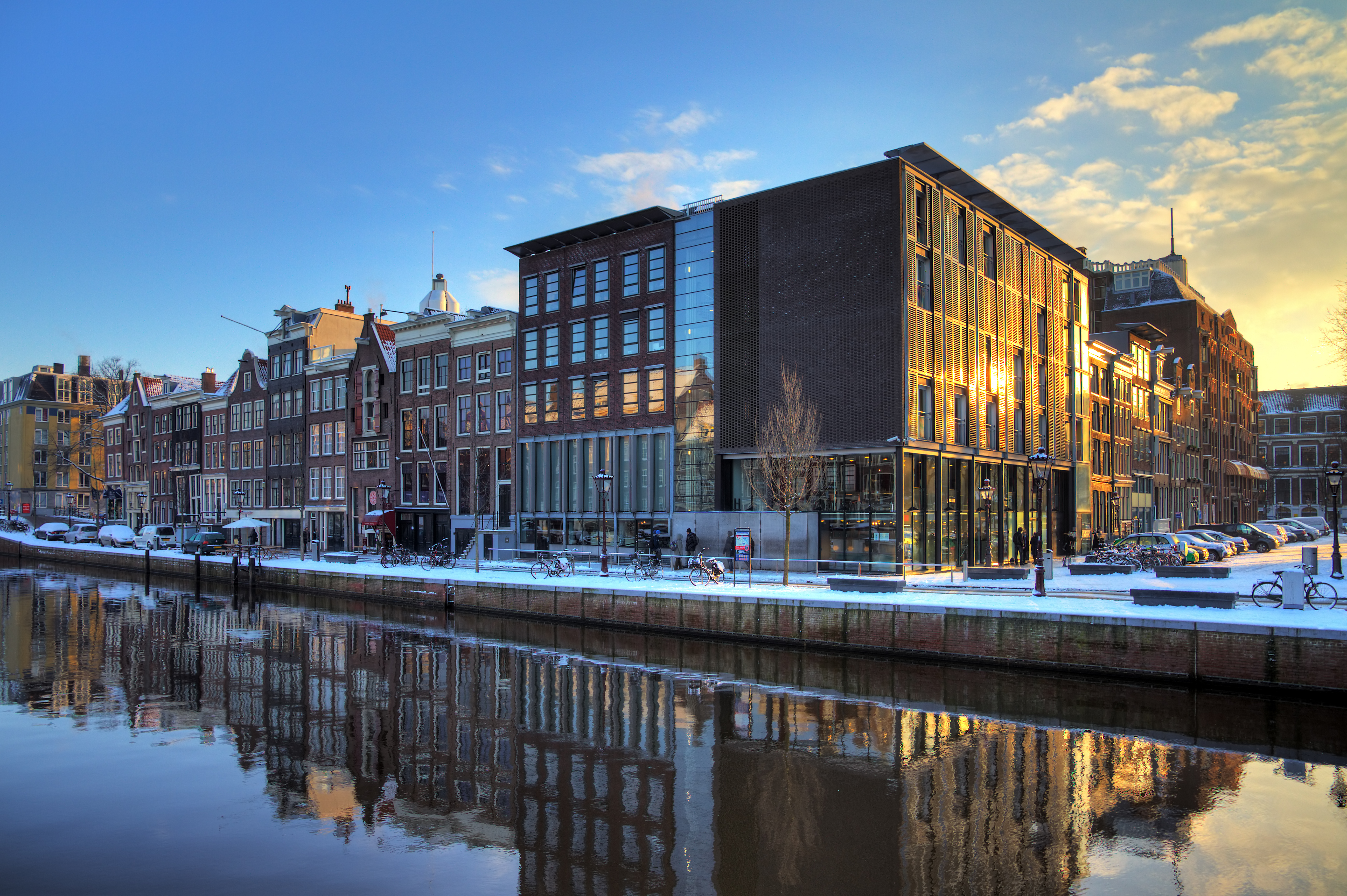 Anne Frank house and holocaust museum in Amsterdam.