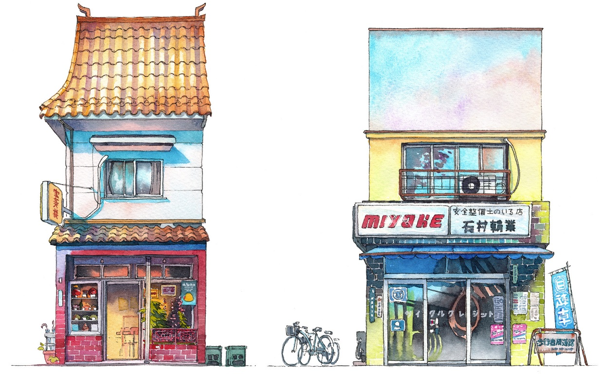 The Tokyo shopfronts series are capturing the old buildings of the city.