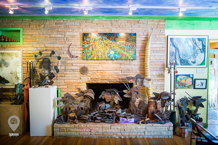 Art is everywhere you look in this Austin home.
