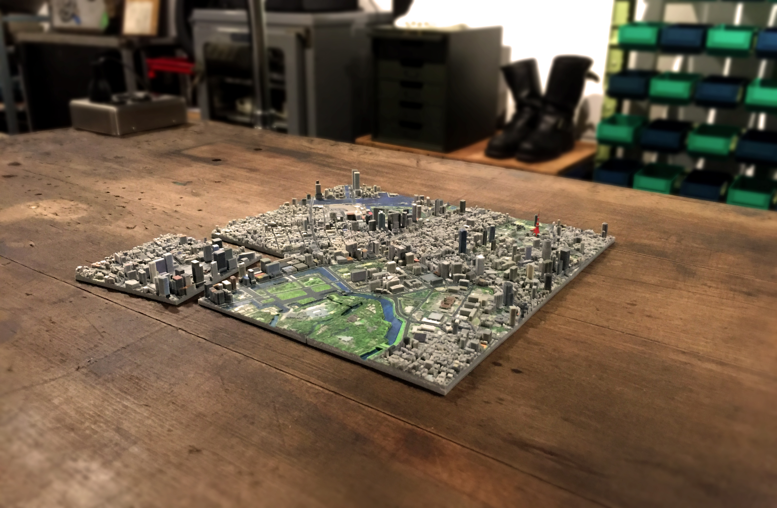 D Printing Exhibition Tokyo : This company is making incredible d printed maps of tokyo