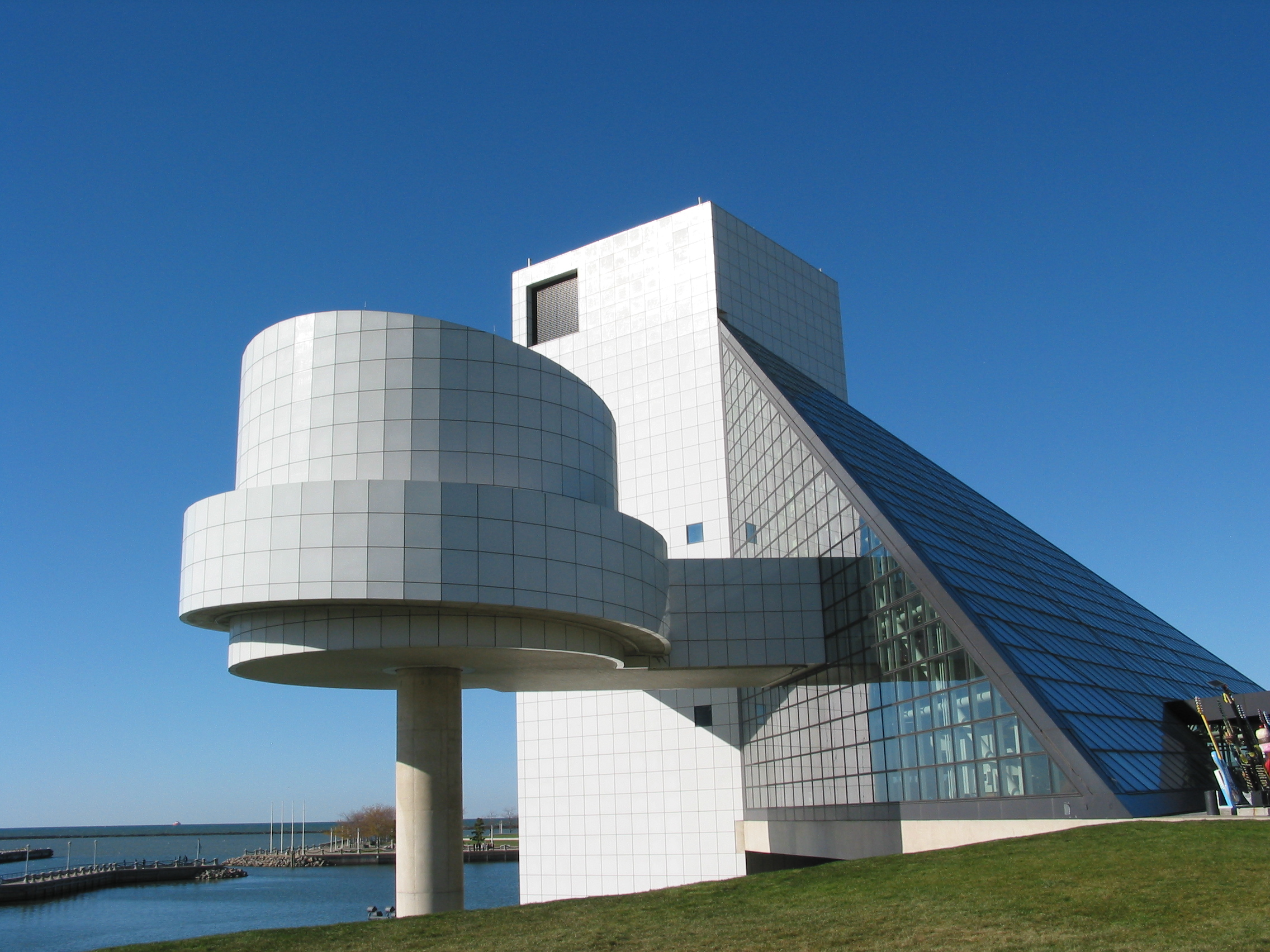 The Rock and Roll Hall of Fame in Cleveland, Ohio.