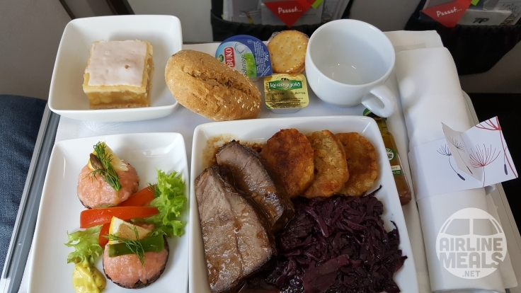 This beef dish was served on Tap Air's flight from Germany to Portugal. Image; Chris/AirlineMeals.net