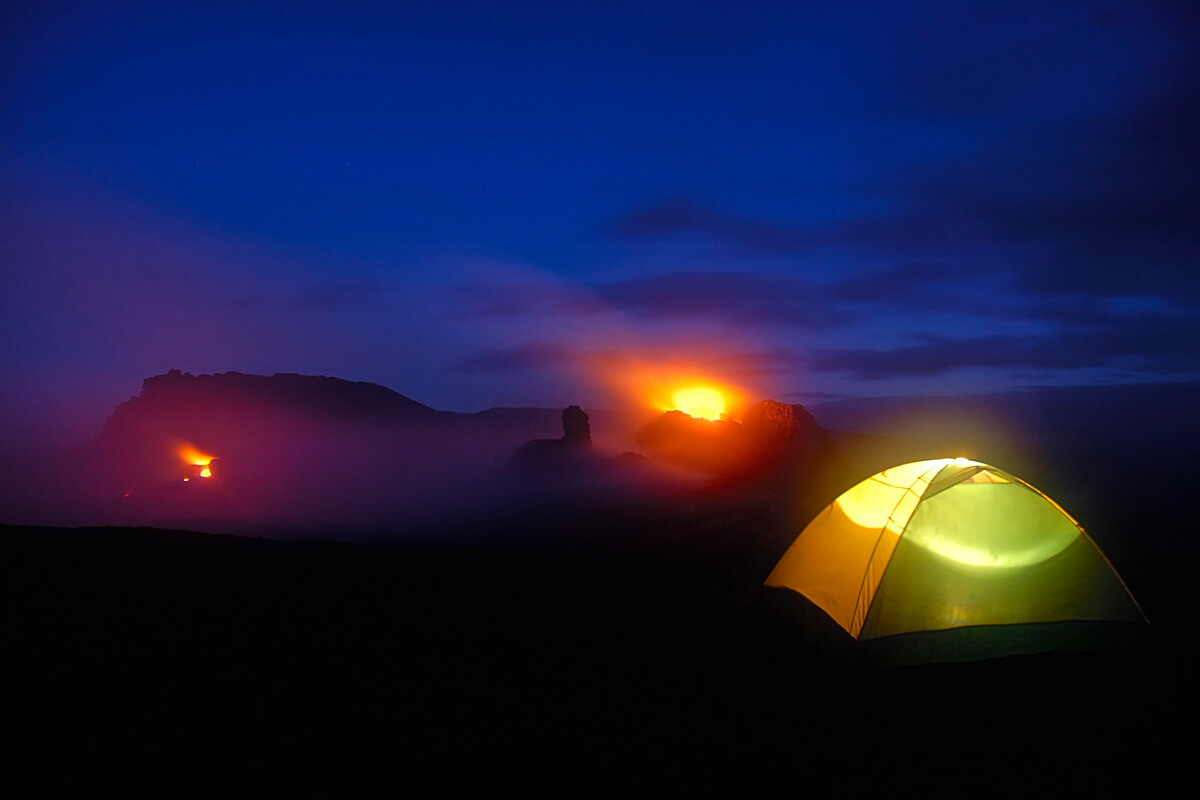 A night out on the volcano