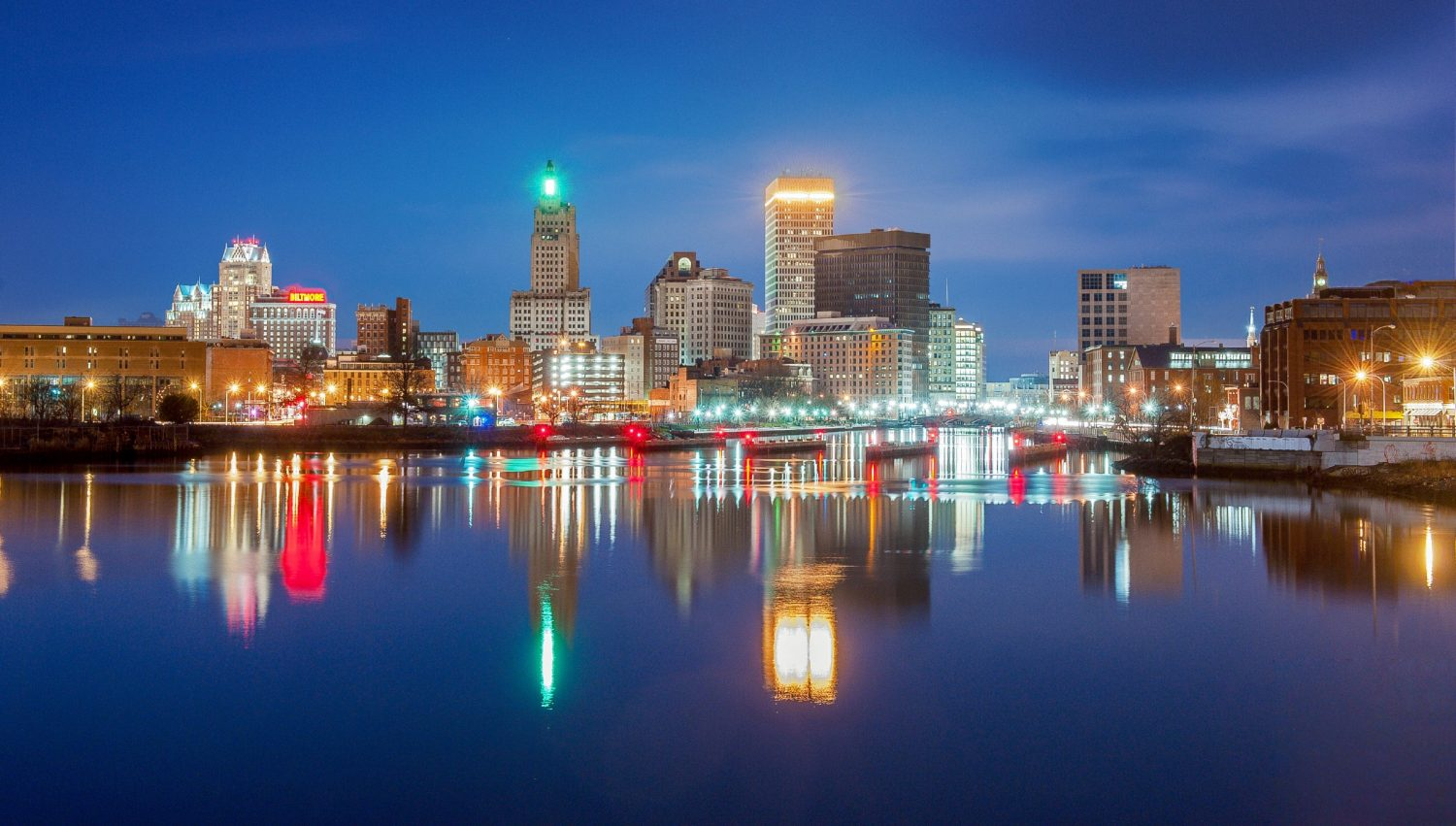 The skyline of Providence, Rhode Island. Image: Yiming Chen/Getty Images