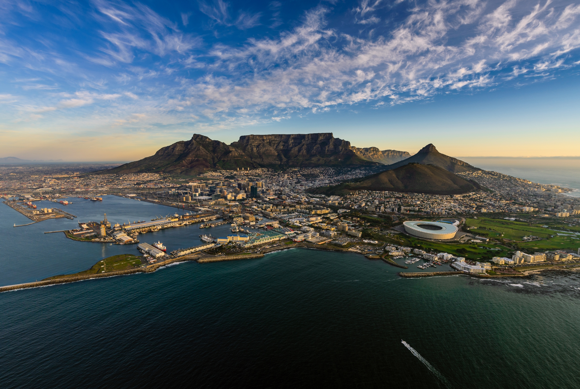 An aerial view of Table Mountain. Image: Alexcpt/Getty Images