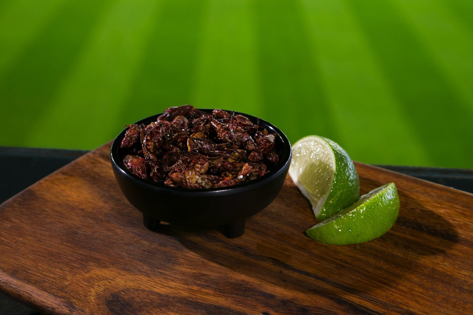 Grasshopper dish with lime on the side