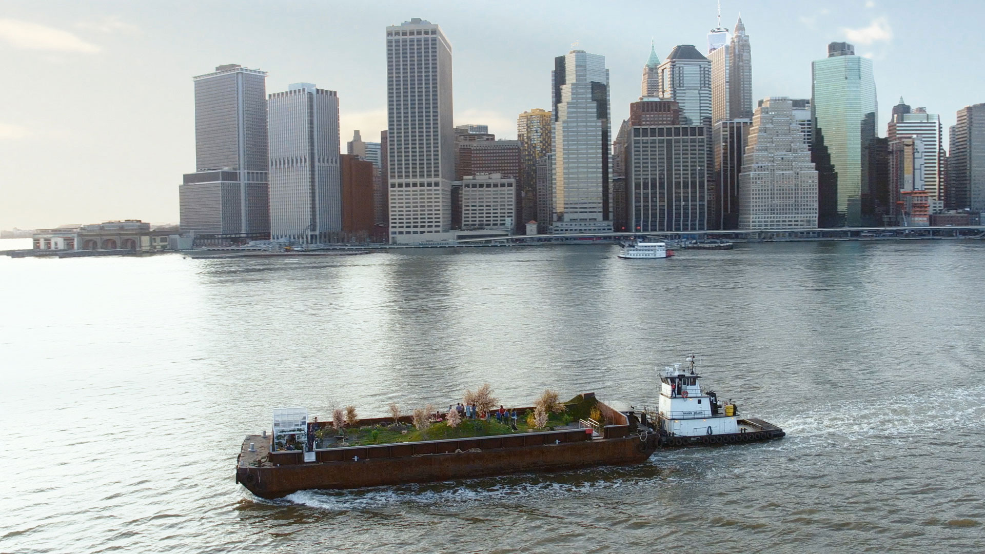 New Yorkers can forage for free food at the city's floating forest