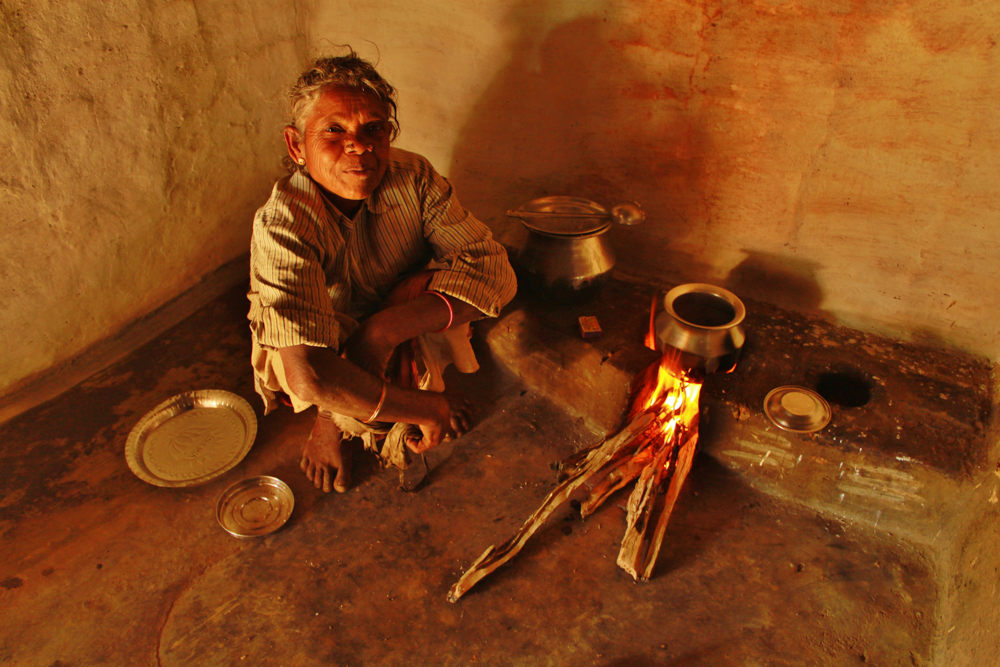 A woman at home in a tribal community in the Nilgiri Hills