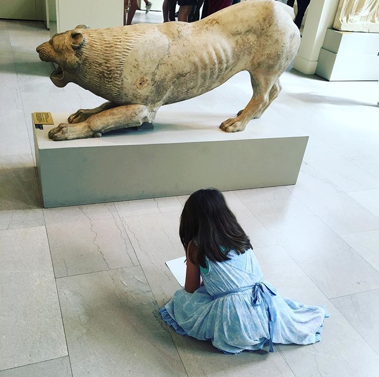 A little girl on the Harry Potter inspired tour in the Met
