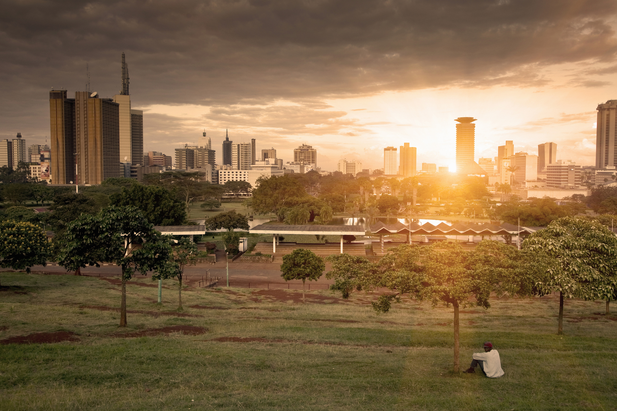 The sun goes does in Nairobi