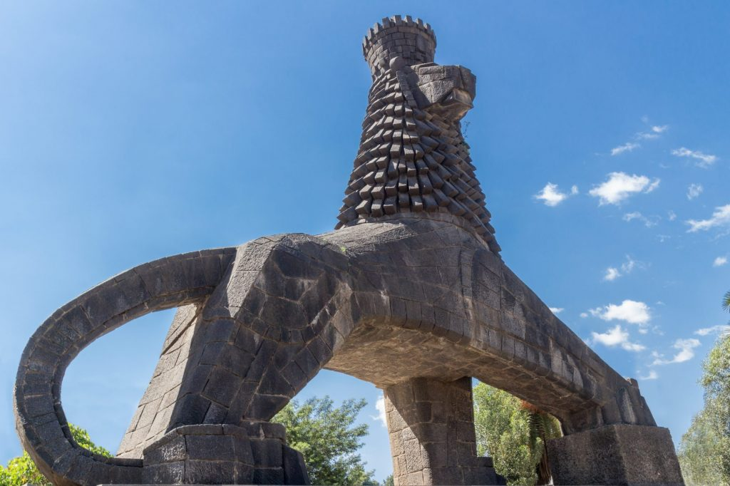 The Lion of Judah statue in Addis Ababa, Ethiopia.