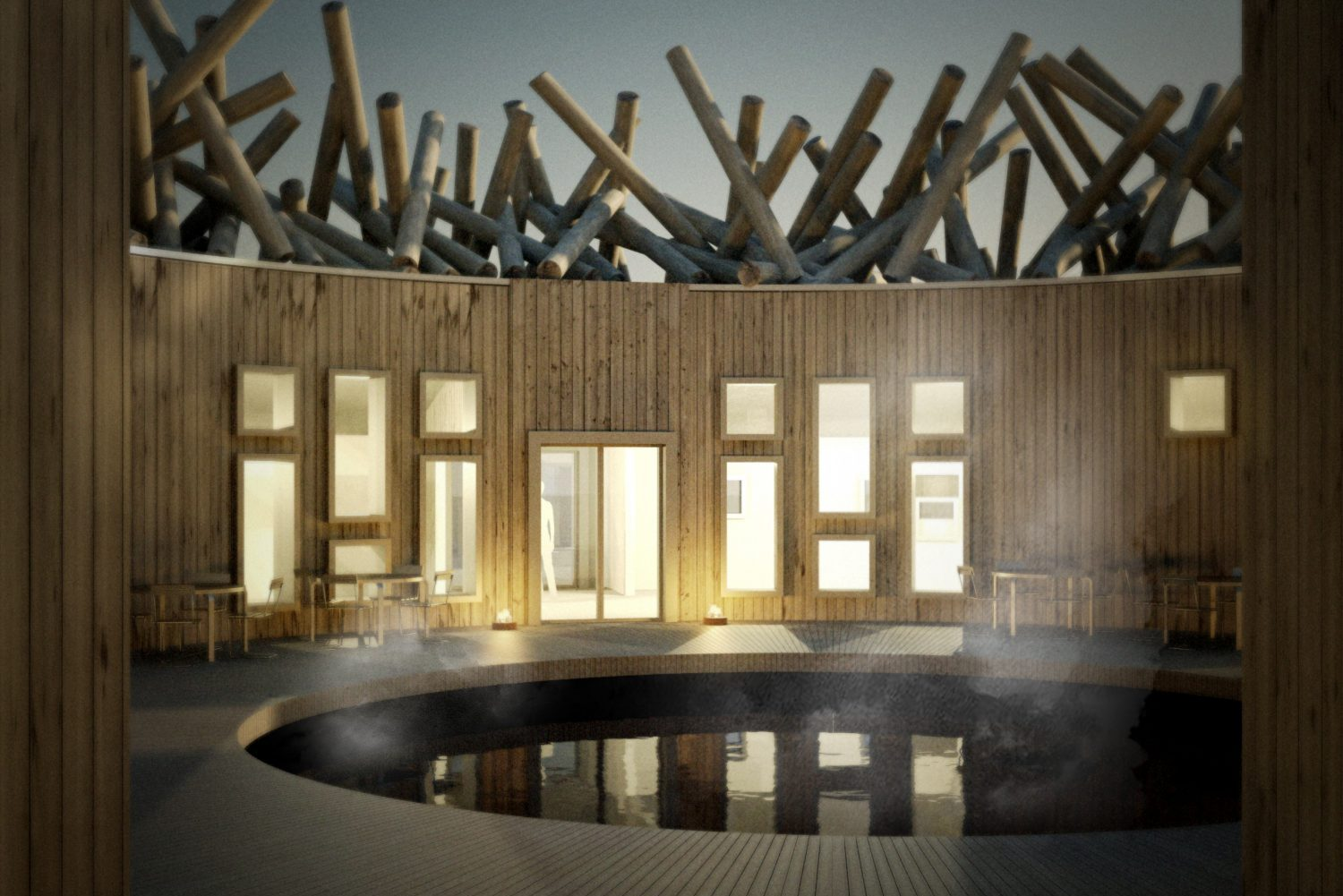 A new floating hotel and spa will open in Northern Sweden