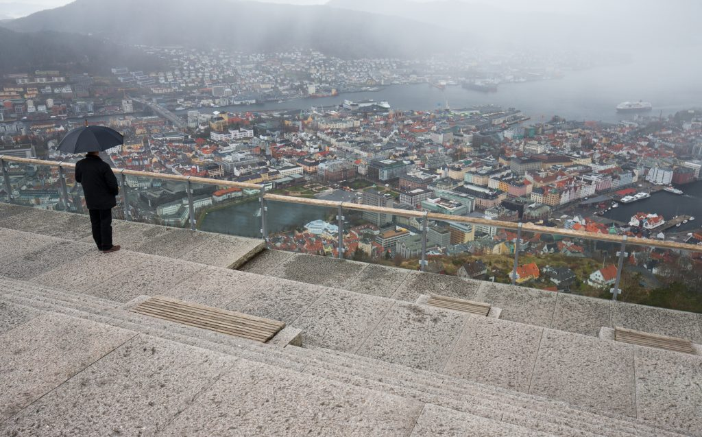 A rainy day in Bergen, Norway. Image: Mats Anda