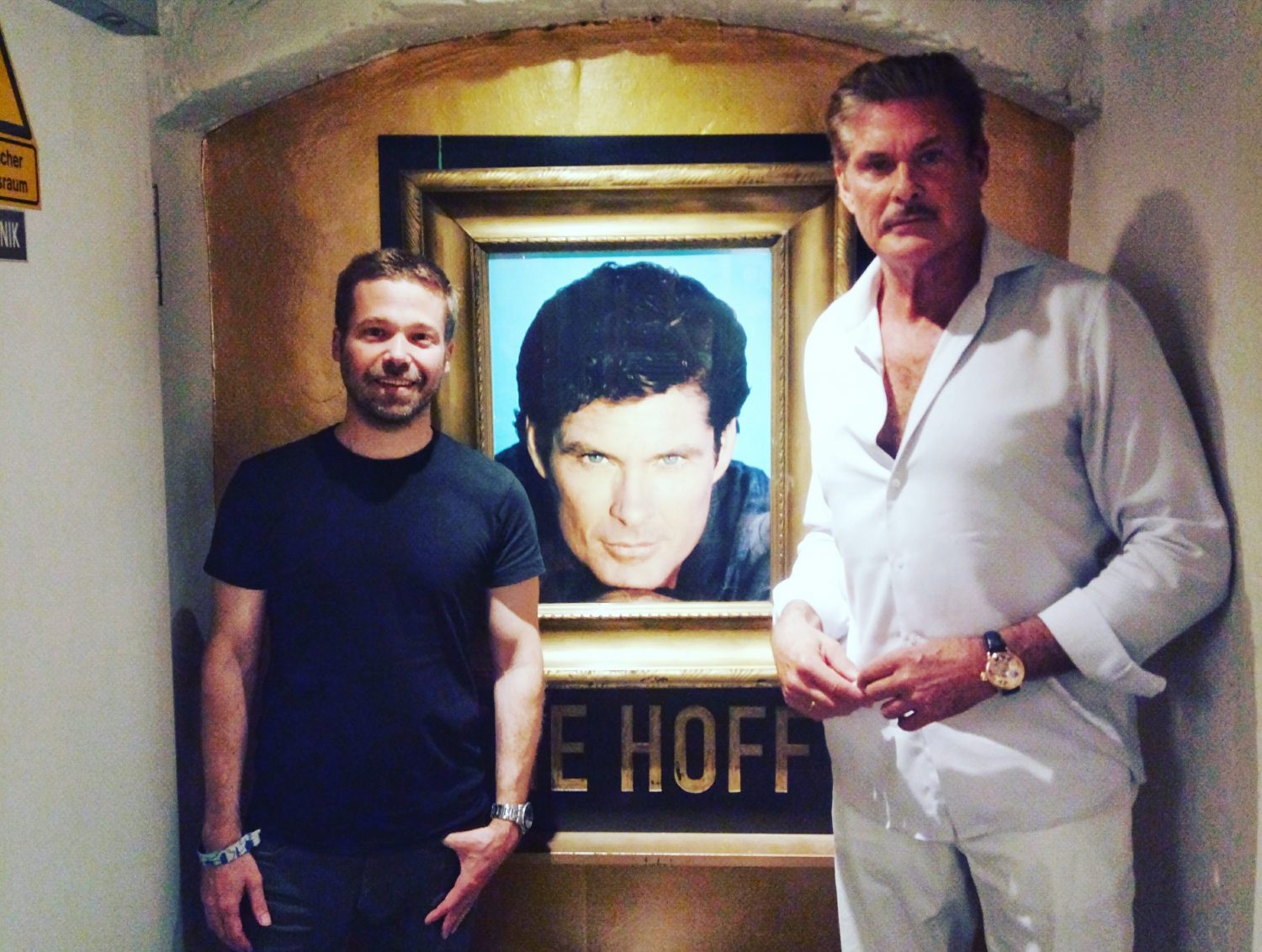 David Hasselhoff visited the Berlin hostel that has built a shrine to him. Image: The Circus Hostel
