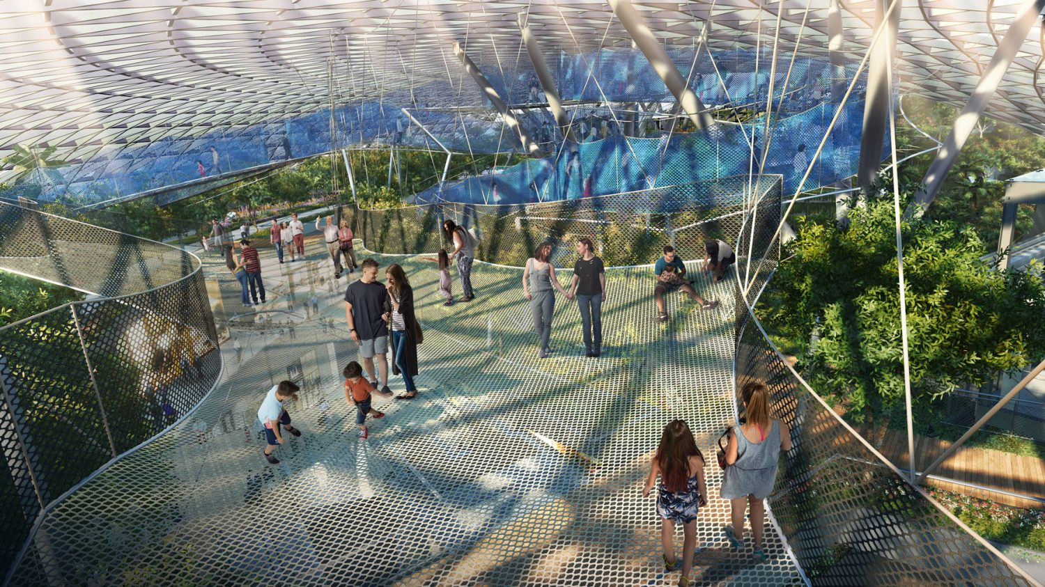 Sky Nets at Singapore's Jewel airport terminal. Image: Jewel Changi Airport Devt