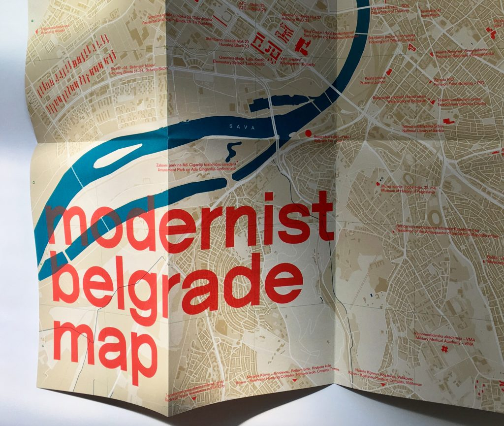 The Modernist Belgrade Map also features photos and architectural details for each building.