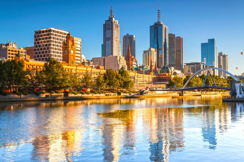 Melbourne was chosen as the number six food destination. Image: Booking.com