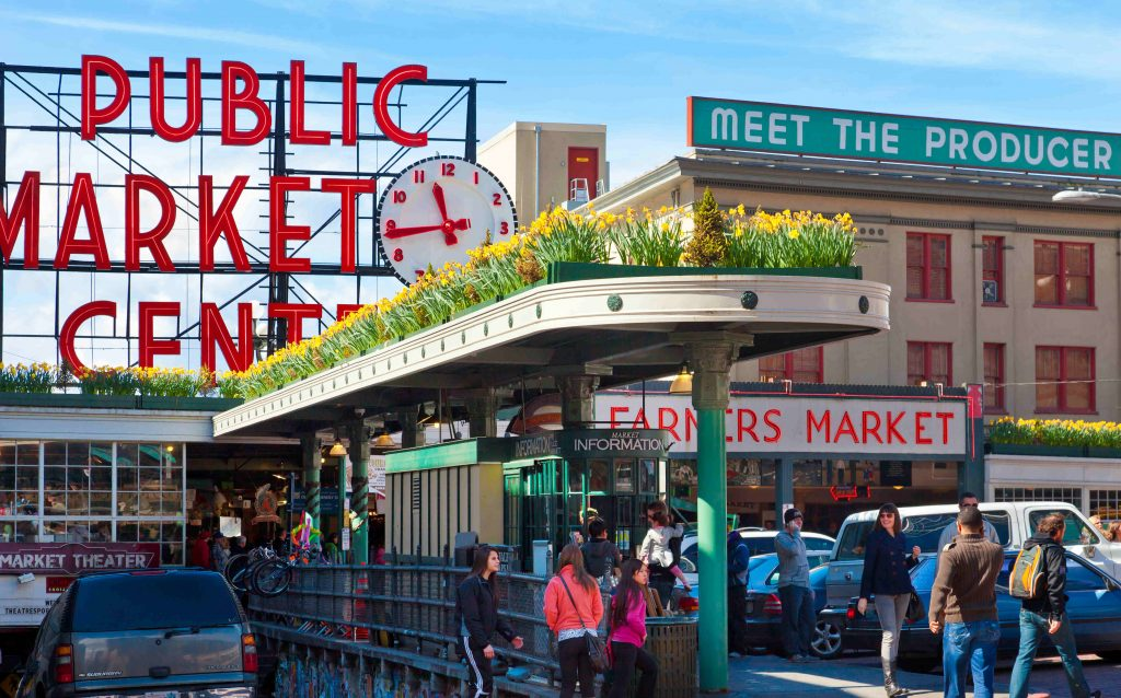 Seattle's iconic Pike Place market reopens
