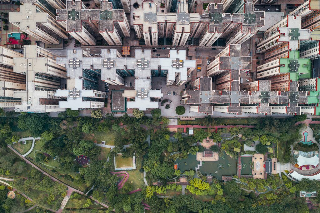 Hong Kong's modern architecture captured from the sky
