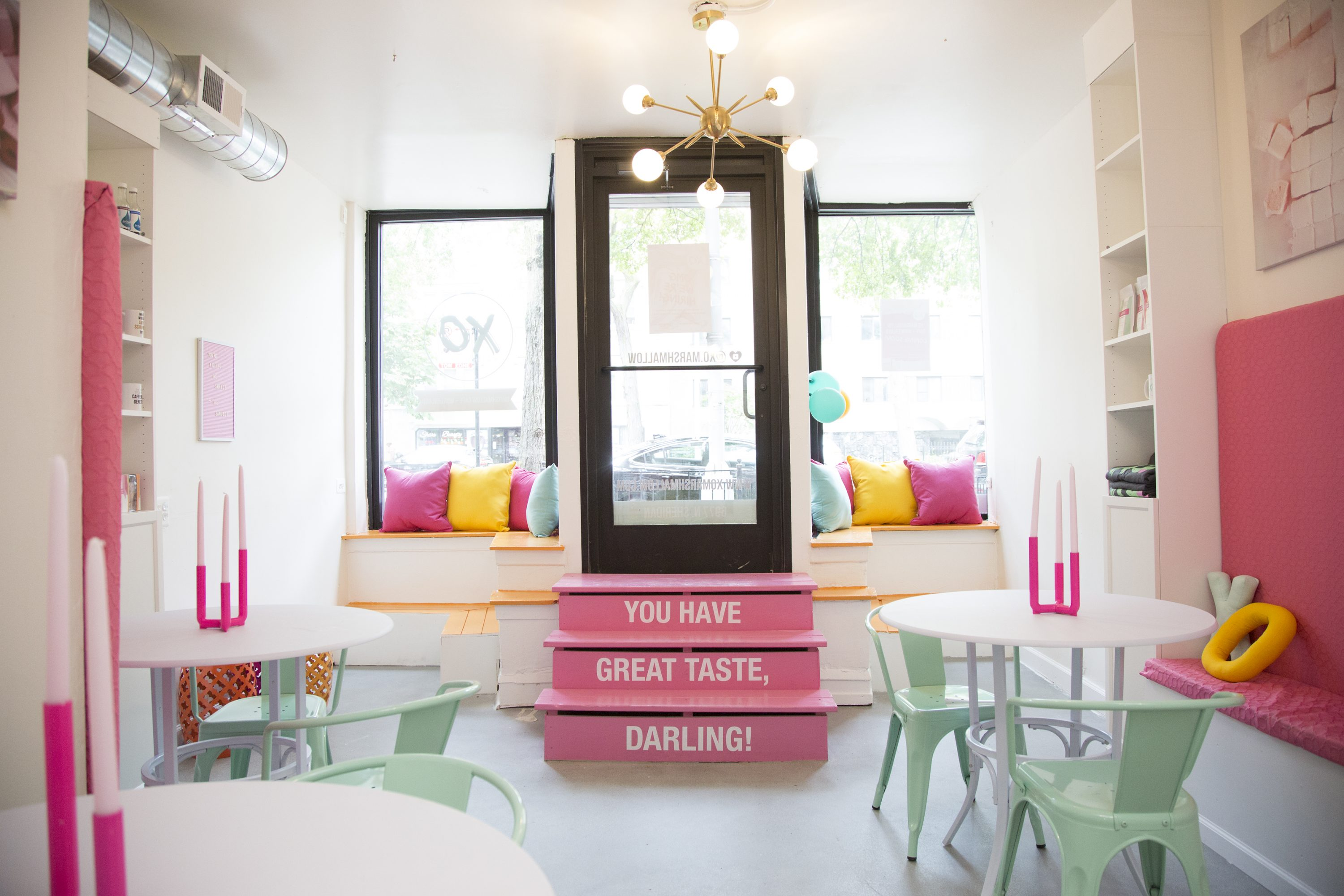 The Inside Of Marshmallow Cafe