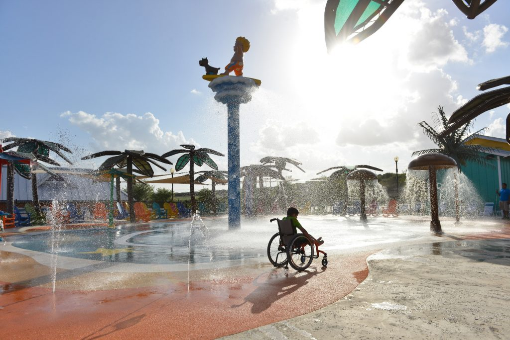 The accessible water park has been designed for all ages and abilities. Image by Robin Jerstad/Jerstad Photographics