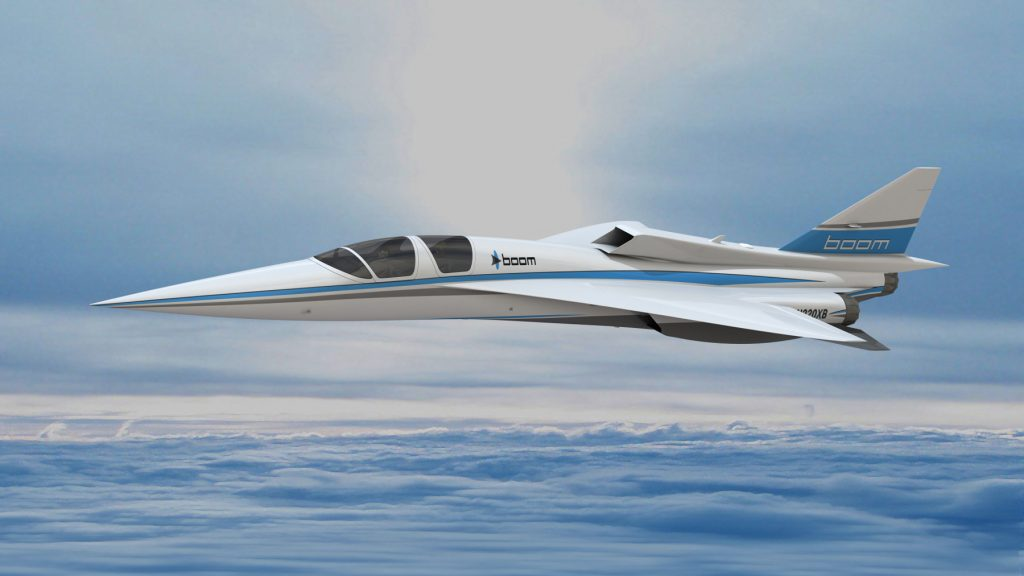 The new renderings of the supersonic plan as shown at the Paris Air Show. Image by Boom