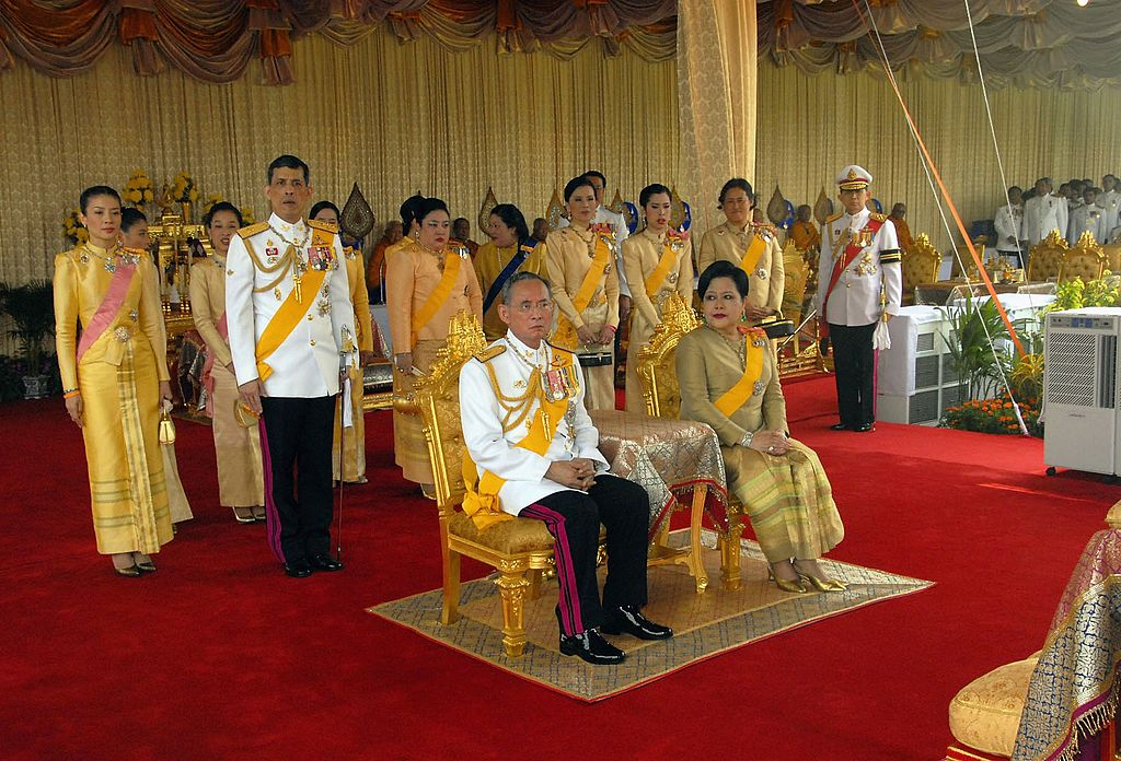 Thailand's lake King Bhumibol Adulyadej and Queen Sirikitin 2006. Photo by Pool-Getty images
