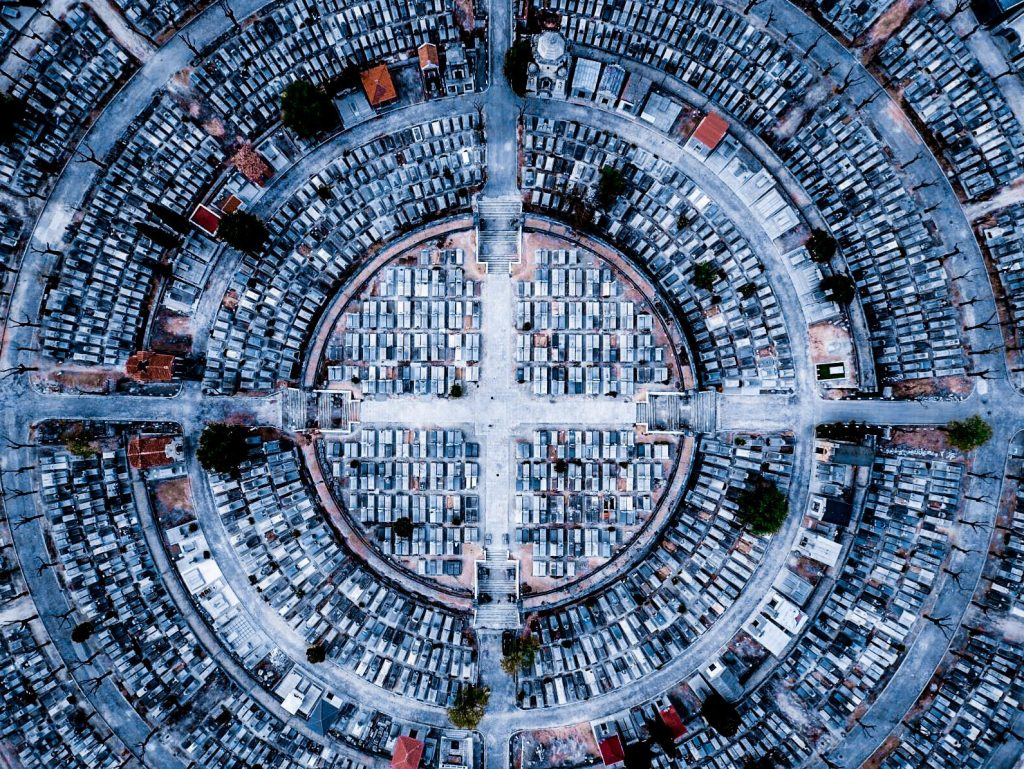 The 3rd prize winner in the urban category shows Madrid from above.