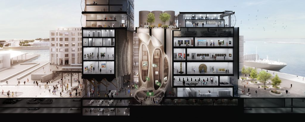 What the new centre for contemporary art in South Africa's Capetown will look like.